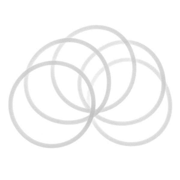 Goudhaartje Haarelastieken set van 5 stuks rubber wit