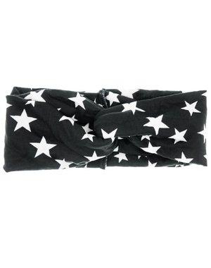 Goudhaartje Haarband zwart met witte sterren