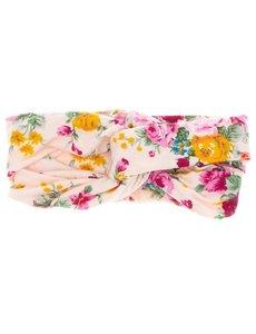 Goudhaartje Haarband roze bloemen lus