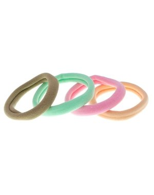 Goudhaartje Haarelastiek nylon pastel 4 stuks
