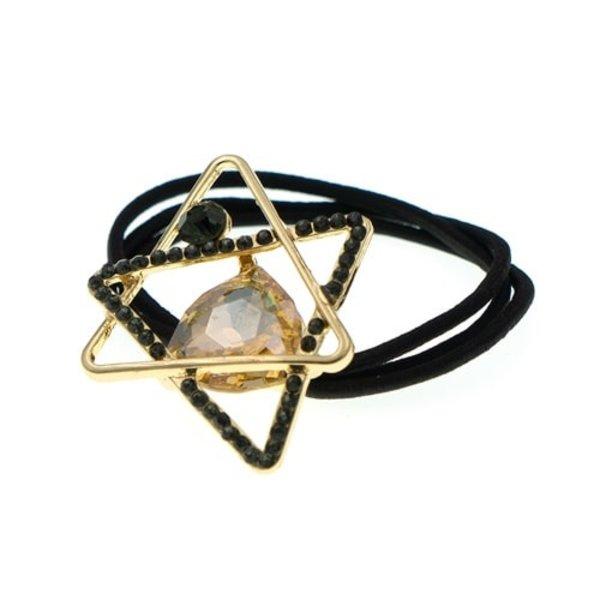 Goudhaartje Haarelastiek goudkleurig driehoeken