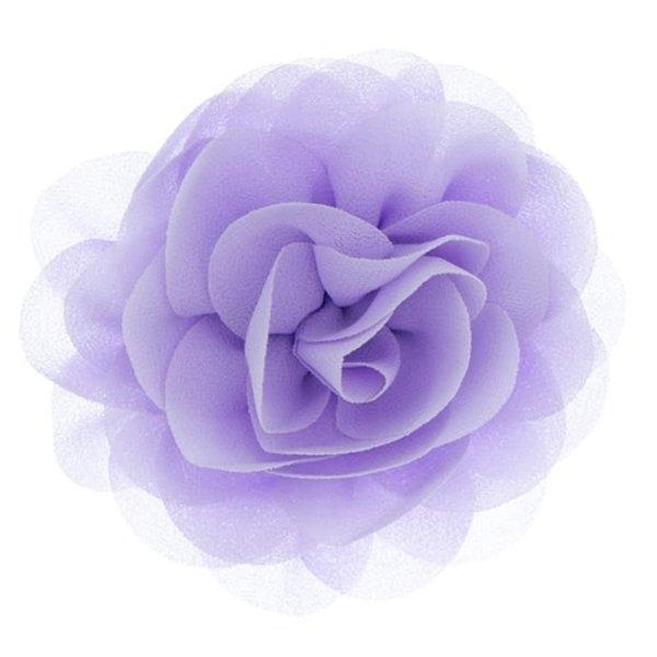 Goudhaartje Haarbloem roos paars op alligator knipje