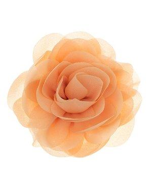 Goudhaartje Haarbloem roos zalm kleur op alligator knipje