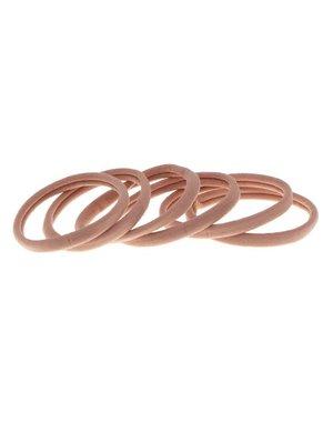 Goudhaartje Haarelastiek nylon roze pastel 6 stuks