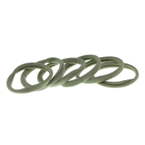 Goudhaartje Haarelastiek nylon groen pastel 6 stuks