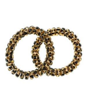 Goudhaartje Kabel haarelastiek goudkleurig zwarte stip