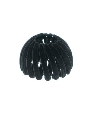 Goudhaartje Vogelnest haarklem velours zwart