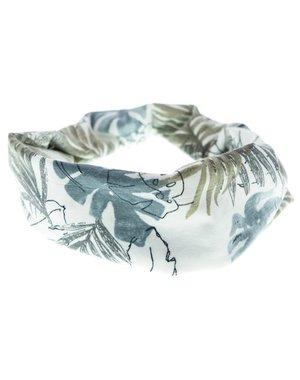 Goudhaartje Haarband grijs groen bladeren