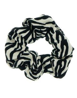 Goudhaartje Scrunchie zebraprint