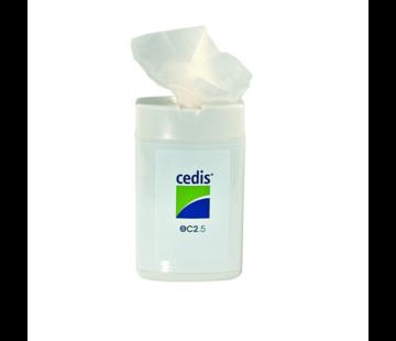Cedis CEDIS reinigingsdoekjes  EC2.5  25 stuks in dispenser
