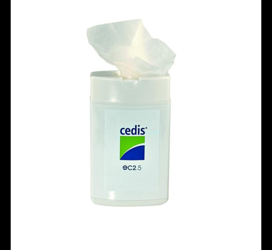 CEDIS reinigingsdoekjes  EC2.5  25 stuks in dispenser