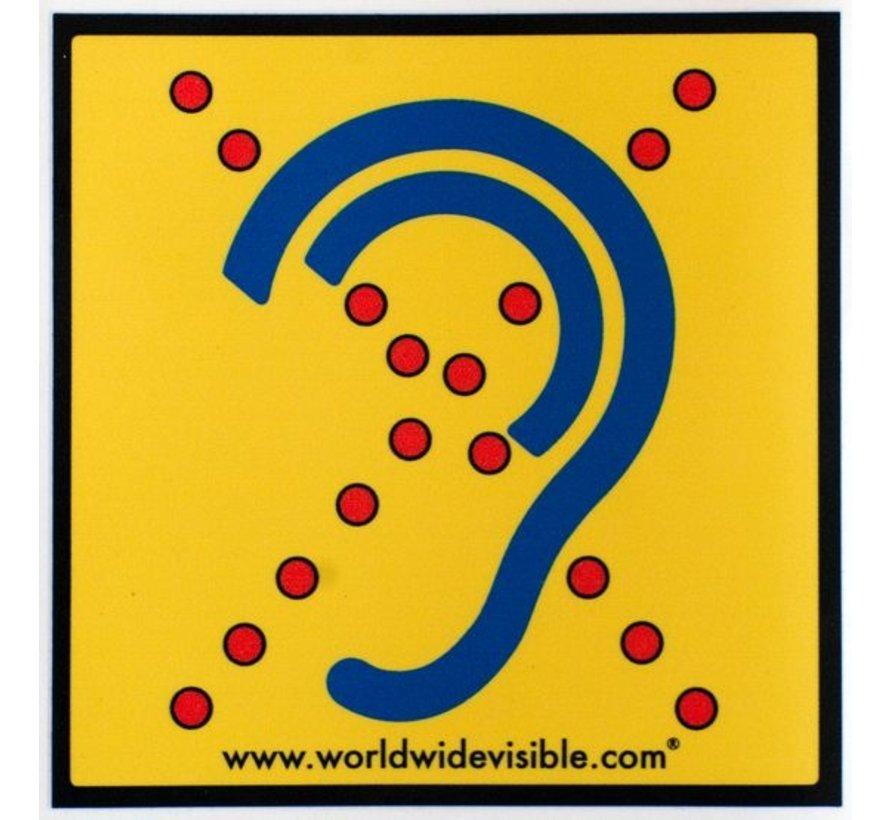 Veiligheids sticker Limited hearing