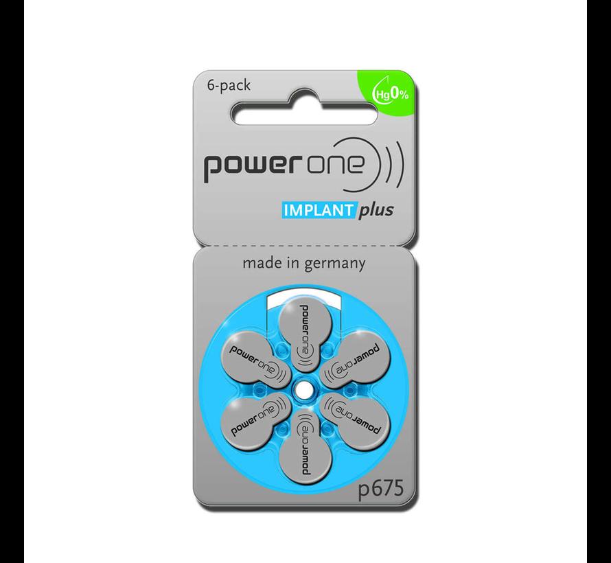 Powerone Implant+ P675 batterij voor CI