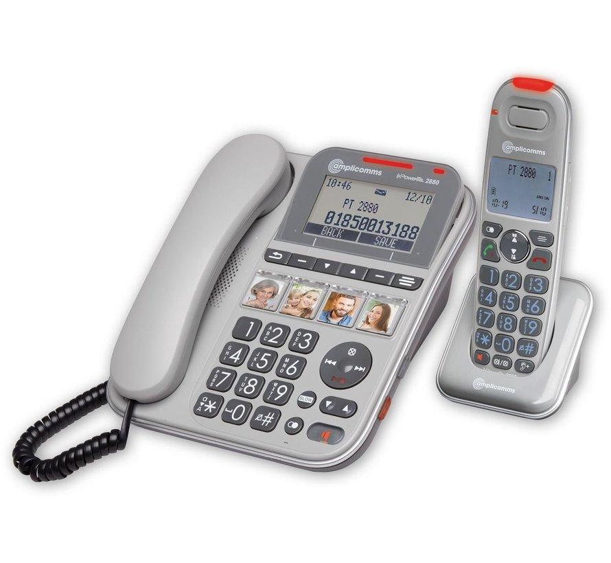 Amplicomms Powertel 2880 Set von schnurgebundenem und schnurlosem Telefon