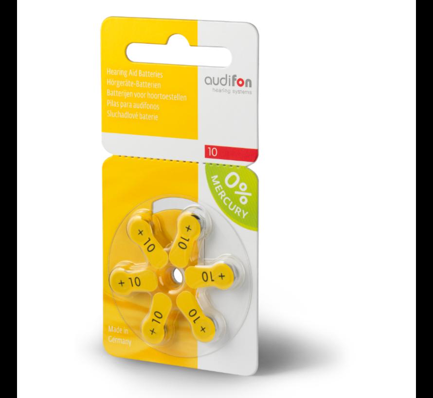 Audifon 10 (PR70) gelb Hörgerätebatterie