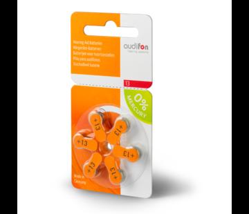 audifon Audifon 13 (PR48) Oranje  hoortoestelbatterij