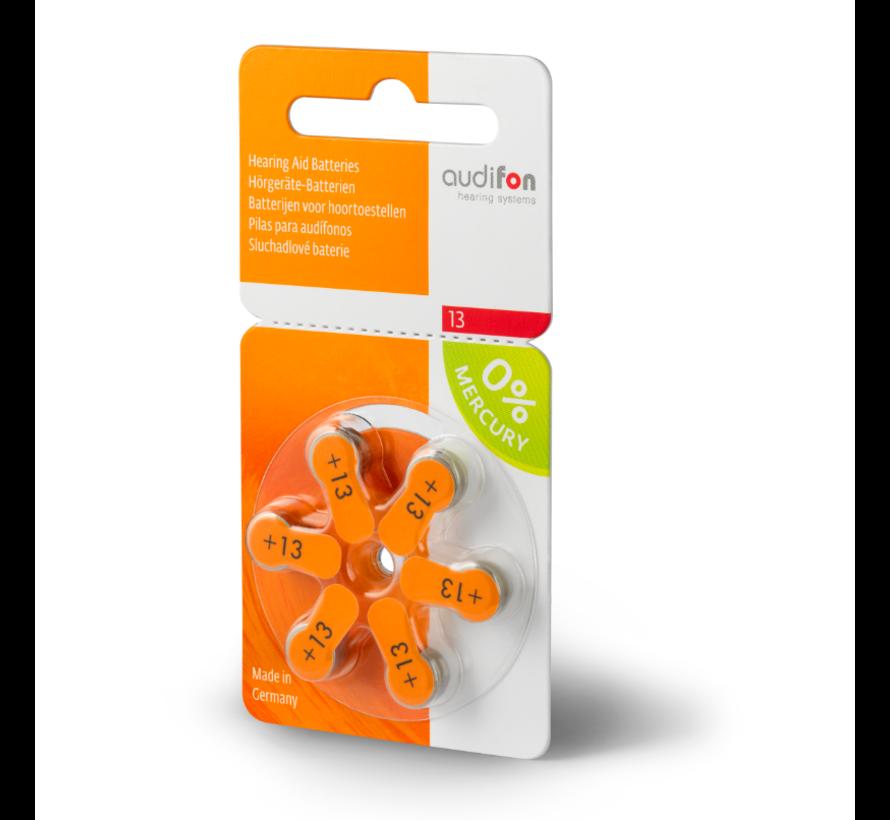 Audifon 13 (PR48) orange Hörgerätebatterie