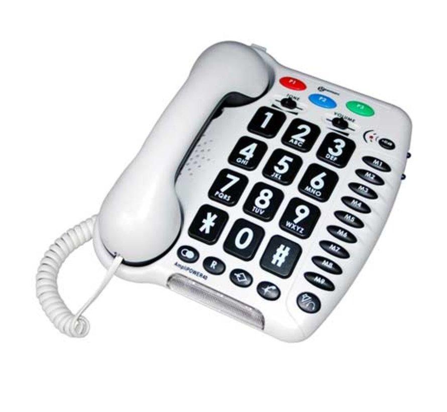 Amplipower 40 telefoon voor slechthorende