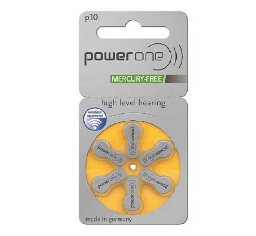 Power One P10 (PR70) gelb Hörgerätebatterie
