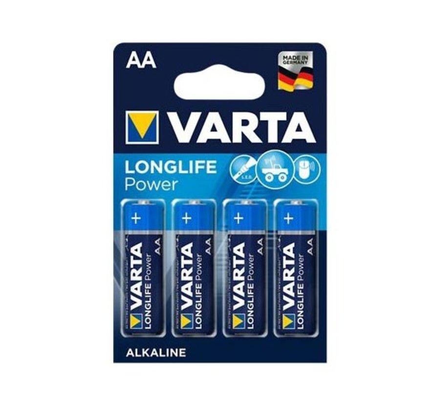 Varta Longlife AA batterijen Blister van 4 stuks