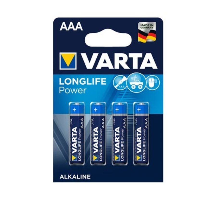 Varta Longlife AAA Batterien LR03 (4 Stück)
