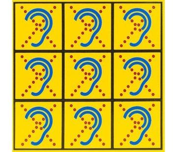 AllesVoorOren Limited Hearing Textiel stickervel klein