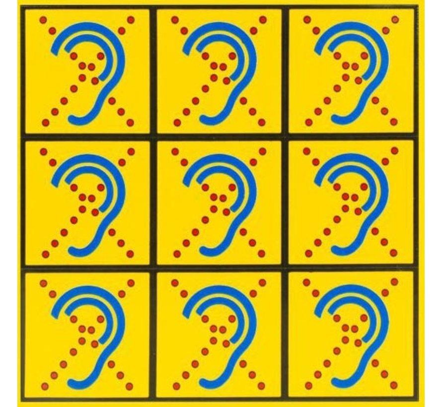 Limited Hearing Textiel sticker klein