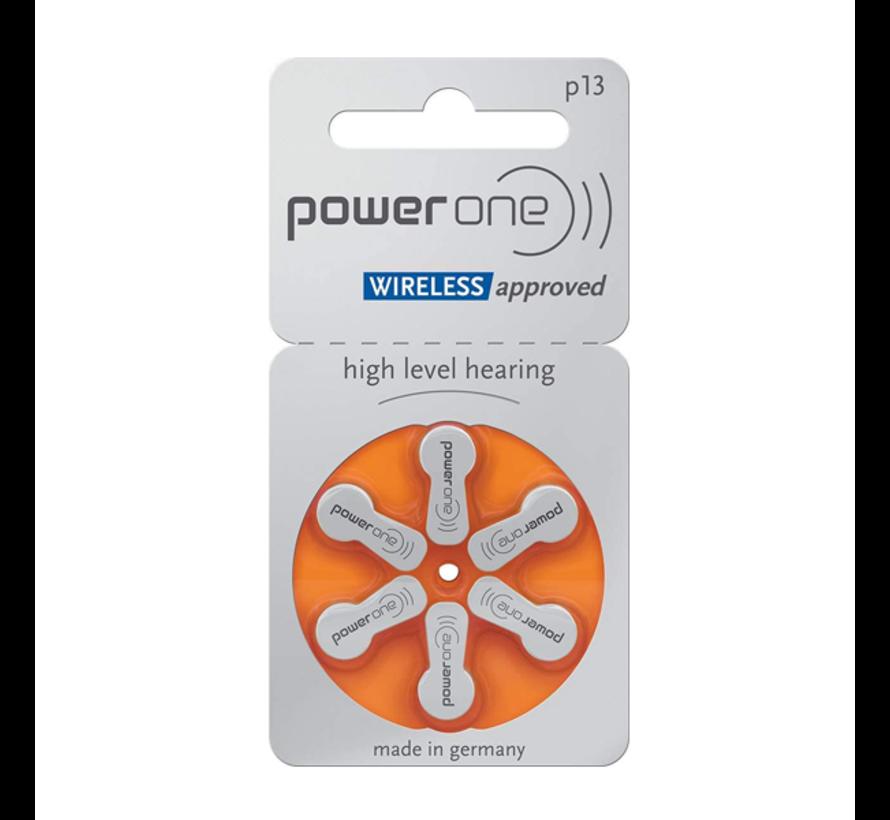 Power One P13 (PR48) Oranje hoortoestelbatterij