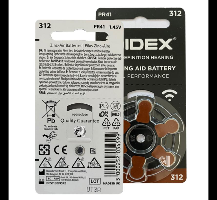 Widex 312 (PR41) Braun Hörgerätebatterie
