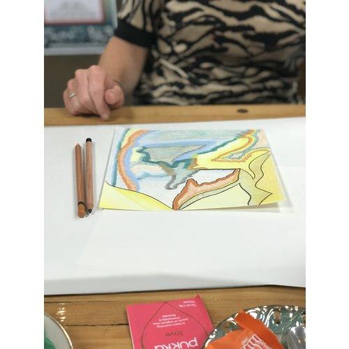 29/11 Intuitief tekenen/schilderen 'ont-moeting in kleur'