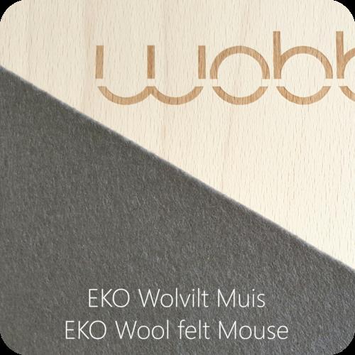 Wobbel Wobbel original - Blank gelakt muis