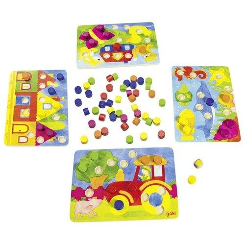 Goki Spel - Leg de kleuren op de juiste plek