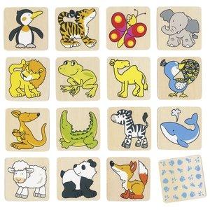 Goki Spel - Memorie dieren 32 delig
