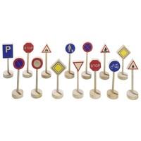 Verkeersborden - Houten verkeersborden 15 delig