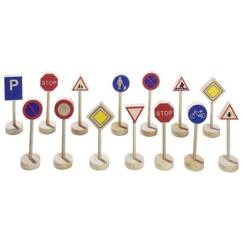 Goki Verkeersborden - Houten verkeersborden 15 delig