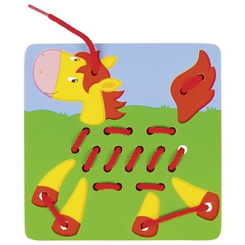 Goki Borduurspel - Vis, hond, paard, dino, pauw