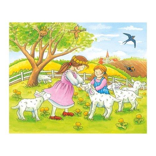 Goki Blokkenpuzzel - Seizoenen op de boerderij