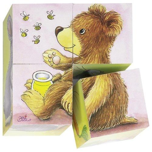 Goki Blokkenpuzzel - Jonge dieren