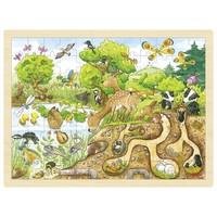 Legpuzzel - In de natuur - onder en boven de grond