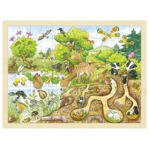 Goki Legpuzzel - In de natuur - onder en boven de grond