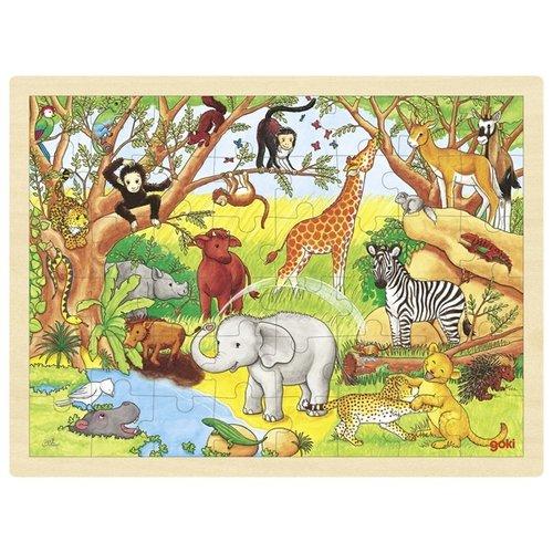 Goki Legpuzzel - Dieren in Afrika