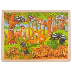 Goki Legpuzzel - Jonge dieren in het bos