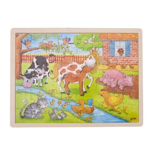 Goki Legpuzzel - Het leven op de boerderij