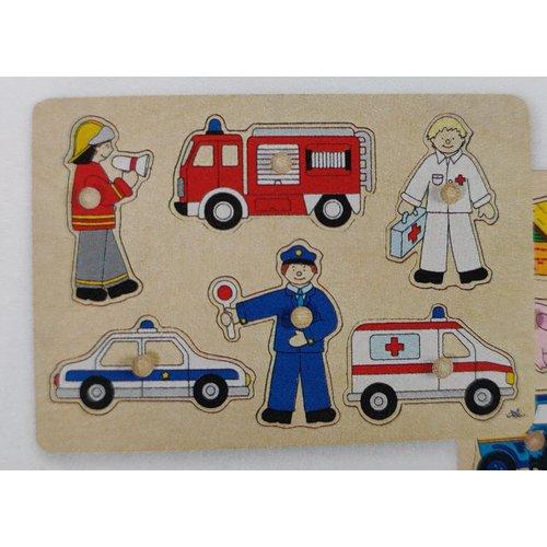 Goki Inlegpuzzel - Hulpdiensten