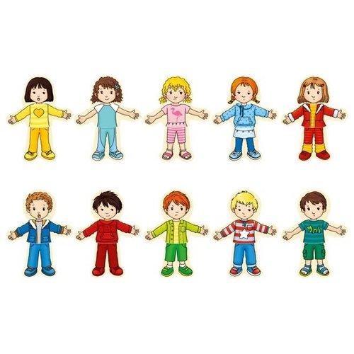 Goki Aankleedpuzzel - Jongen en meisje