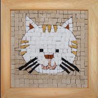 Mosaicbox - Mozaïek met lijst Kat 17 cm