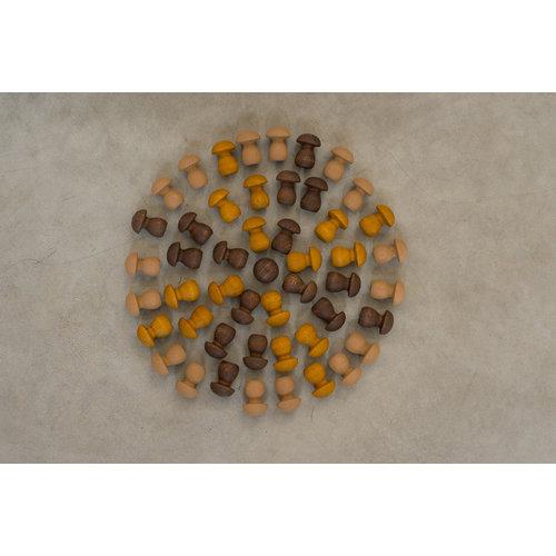 Grapat Grapat Mandala, Bruine paddenstoelen