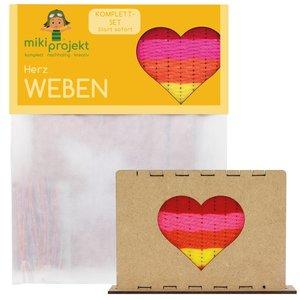 Mikiprojekt Knutselset met geweven hart