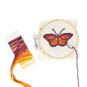Huckleberry Borduurset Vlinder