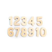 Flockmen - set houten nummers (1-10)